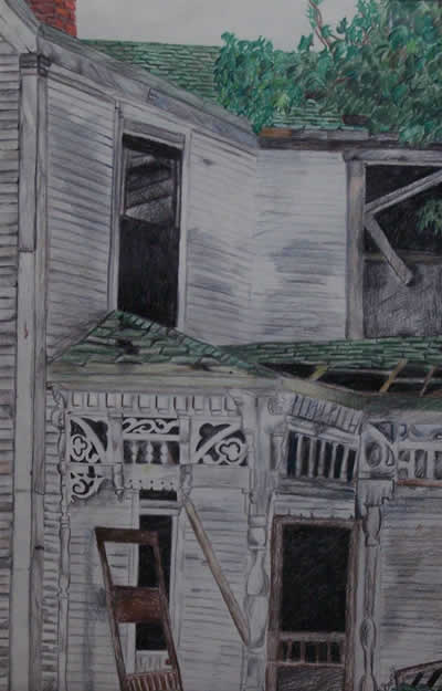 Broken Down, 2002 (Colored Pencil) by Kendra M. Storer