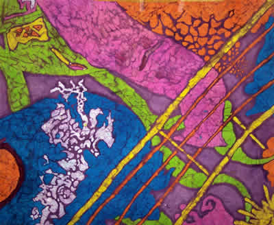 Guitar Strings, 2003 (Batik) by Kendra M. Storer